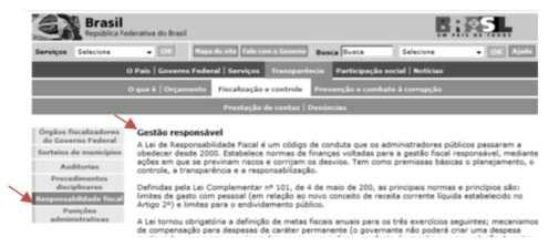 Figura 82 - A inconsistência entre o rótulo com o nome do item no menu e o título da página de conteúdo apontada pode ser interpretado como rótulo enganoso, embora o conteúdo seja, de fato, relacionado com o termo do item do menu. (Março, 2009)